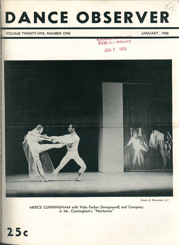 25 01 (I-1958). Merce Cunningham (Dance Observer; 25-1)