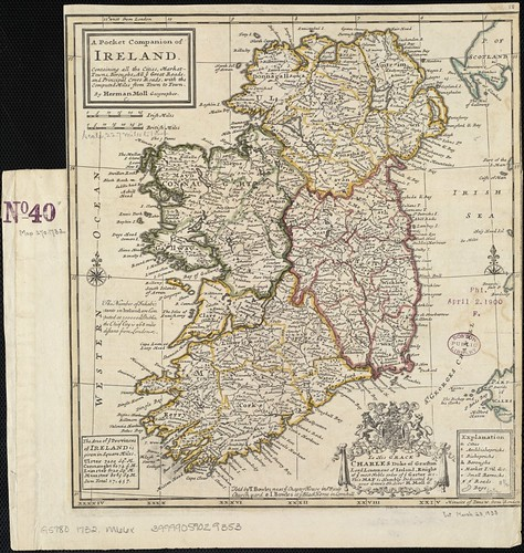 A pocket companion of Ireland, containing all the cities, market towns, boroughs, all ye great roads, and principal cross roads with the computed miles from town to town | by Norman B. Leventhal Map Center at the BPL