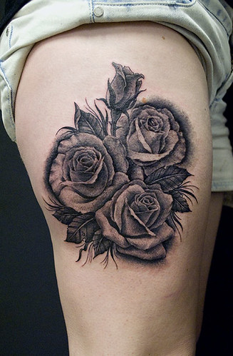 Rose Tattoo - black and grey | by Chris Hold