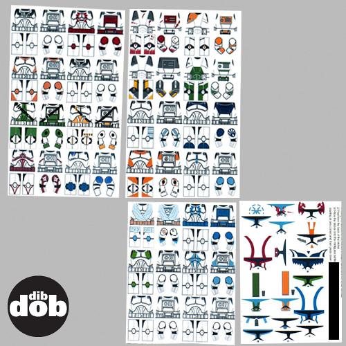 By dibdobdesign custom star wars lego clone decal sticker set by dibdobdesign