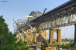 The Huey P. Long Bridge getting remodeled | by Larry Daugherty ~ back from a long vacation!