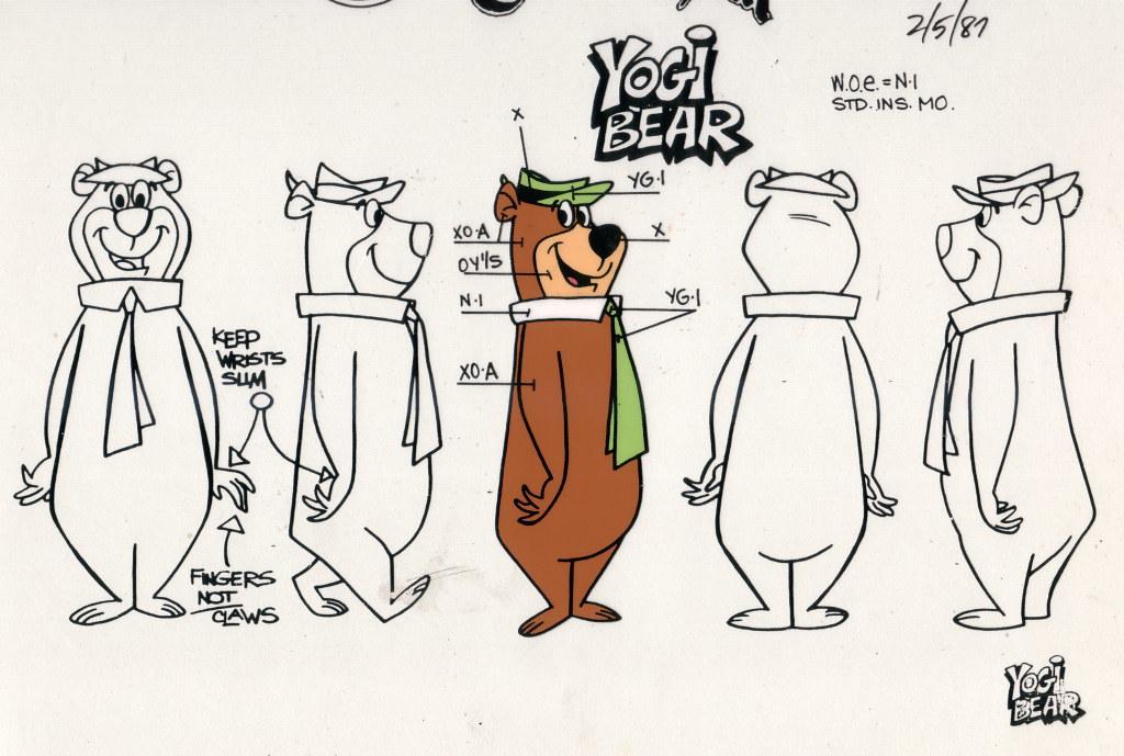 animation model yogi bear animation model used by cel pa flickr