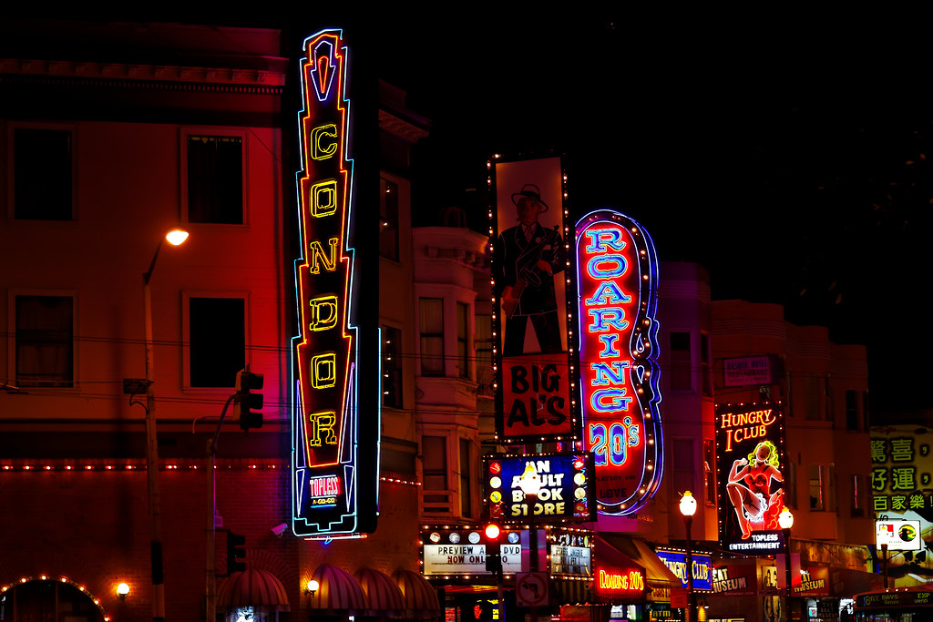 Broadway Signs At Night