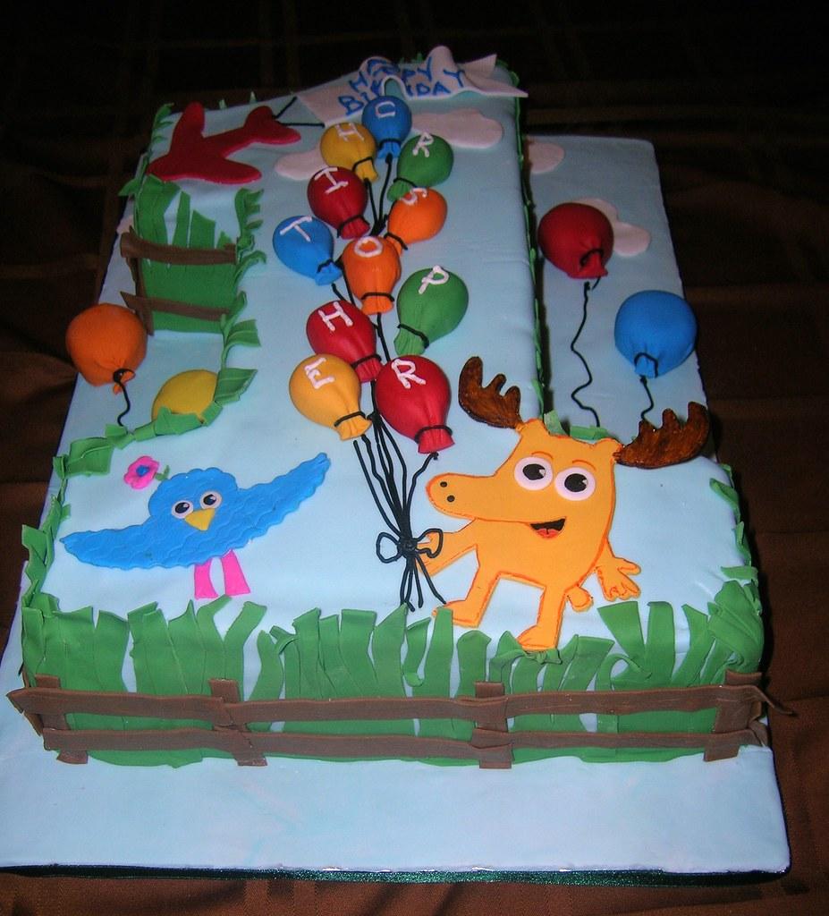 Moose And Zee 1st Birthday Cake Cakesbymonica Flickr