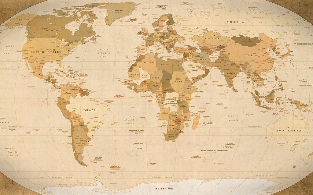 World map parchment wallpaper 1920x1200 realized yesterd flickr world map parchment wallpaper 1920x1200 by guysie gumiabroncs Images