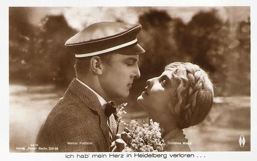 Werner Fuetterer and Dorothea Wieck in Ich hab mein Herz in Heidelberg verloren (1926)