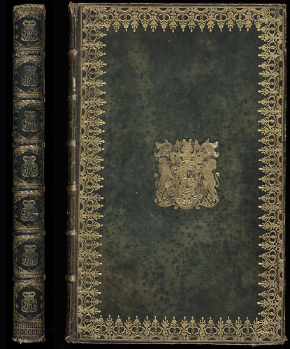 Armorial binding from the library of King George III | by National Library NZ on The Commons