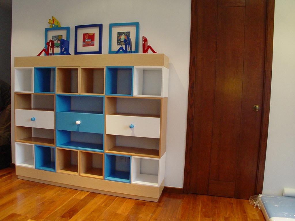 Dise O De Muebles De Ni Os Librero Modular Con Cajones Y Flickr # Muebles Libreros