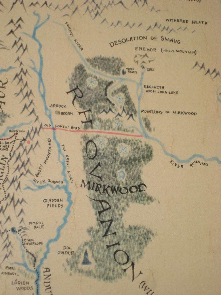 East Middle Earth Map%0A     Map Of Mirkwood Forest on map of bag end  map of lothlorien