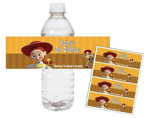 Toy Story Woody Jessie Printable Water Bottle Wraps Birthday Party Favor