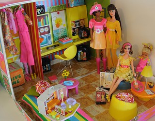 julia, barbie, becky and stacie have a doll party | by deborah is lola