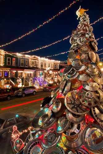 Hubcap Christmas Tree - Baltimore Maryland | by crabsandbeer (Kevin Moore)