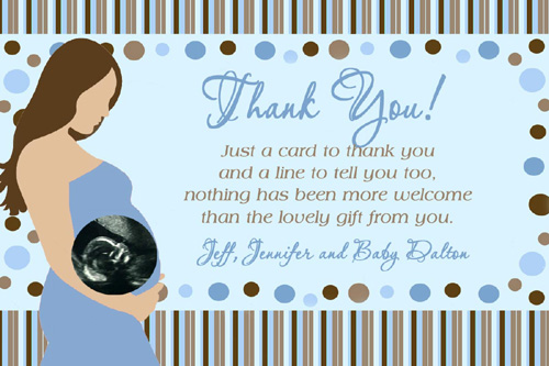Pregnant Mommy Ultrasound Photo Baby Shower Thank You Card Flickr