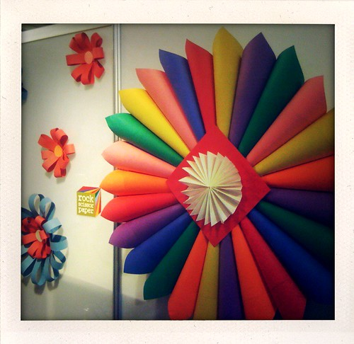 Paper Booth Decorations Detail Of The Rainbow Colored Pape Flickr