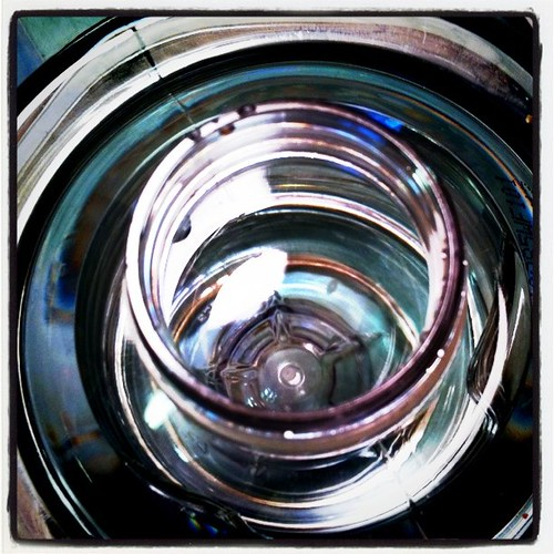 Looking down a water bottle | by Louis Trapani