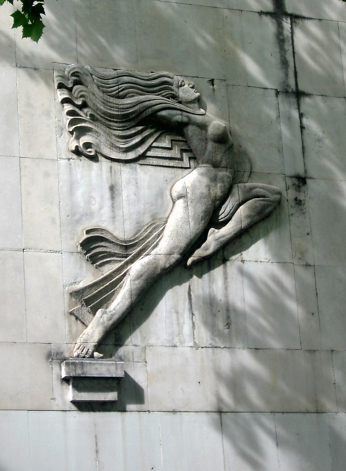 Art deco female bas relief, Glavna Pošta, Podgorica, Monte… | Flickr