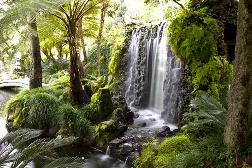 Monte Palace Gardens Madeira A Beautiful Waterfall Within Flickr