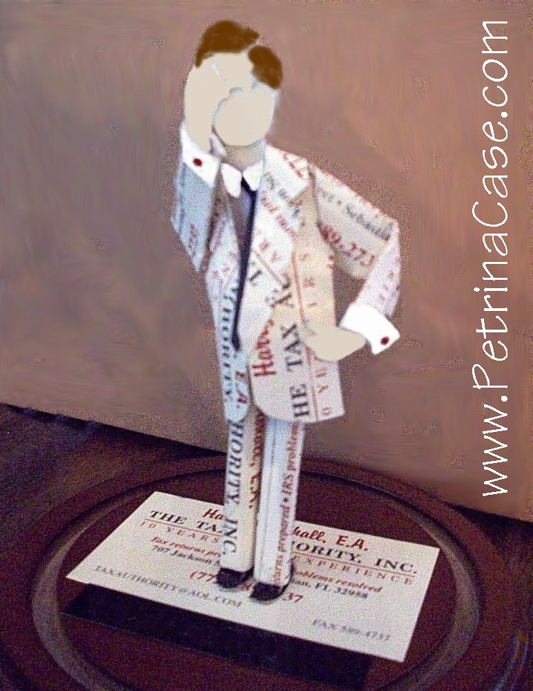 Business card sculpture tax man business card sculpture ma flickr business card sculpture tax man by paper pop ups petrina case colourmoves