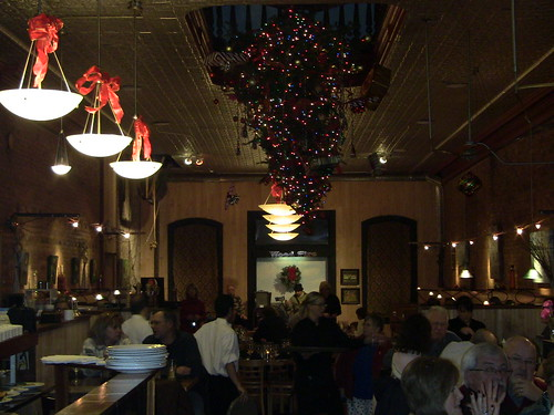 Upside Down Christmas Tree Wood Fire Restaurant Dowagaic M