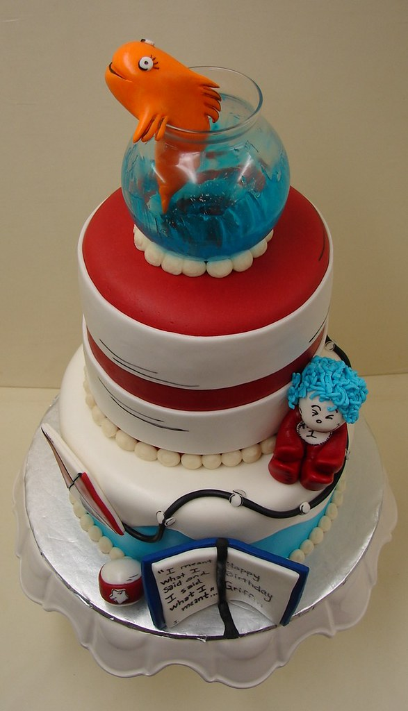 Cat And The Hat Birthday Cake Cat And The Hat Birthday Cak Flickr
