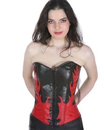 Black and Red Leather Corset | by YourCorset