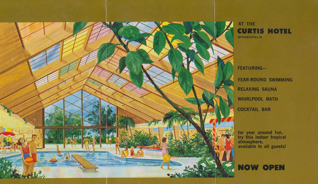 The New Tropical Pool at the Curtis Hotel and Motor Lodge- Minneapolis, Minnesota