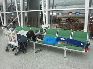 Sleeping at HKG | by Rolling Okie