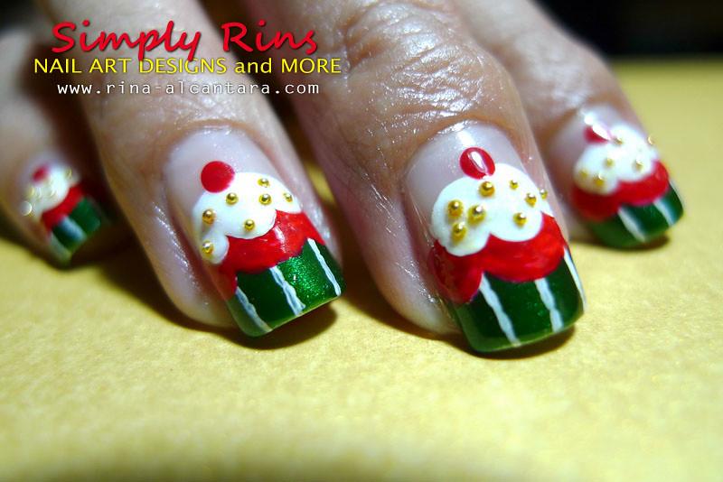 Christmas Nail Art Cupcakes 05 Rina Alcantara Flickr