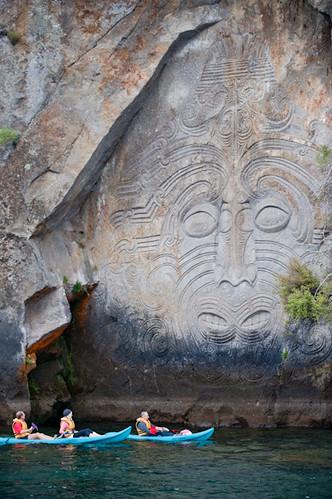 Lake taupo maori rock carvings destination great