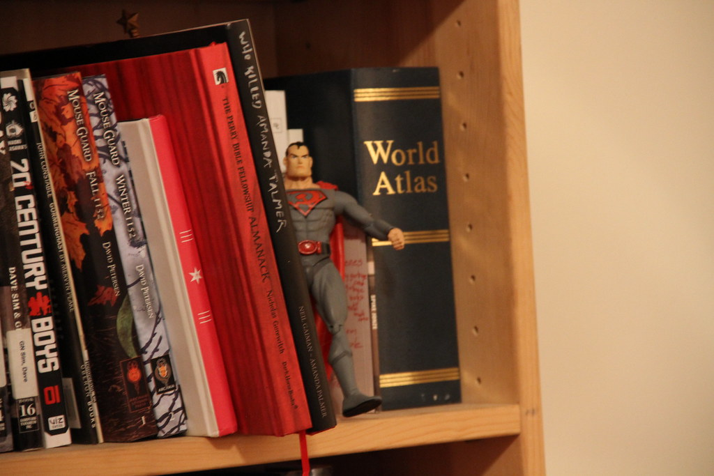 Communist Superman Bookshelf