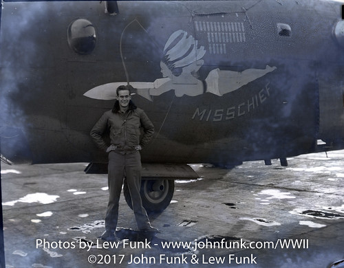 "T/Sgt Shepherd G. Litsey and B-24 ""Misschief"" 