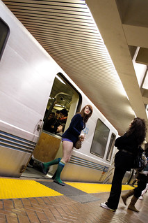 No Pants Subway Ride, SF 2011: arrival 00 | by bhautik_joshi