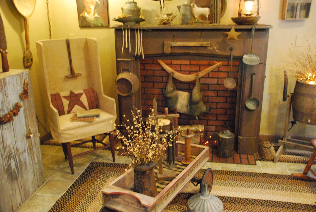 ... Primitive Living Room | By A Storybook Life