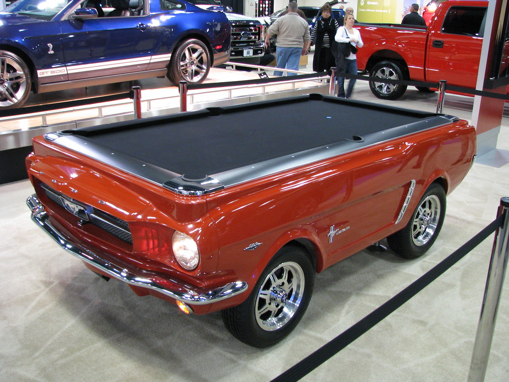 By A Classic 60u0027s Ford Mustang Pool Table   What The ??!! | By