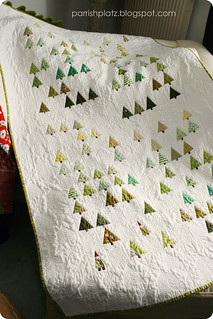 little Forest quilt (with a few gnomes) | by parrishplatz {Jennifer}