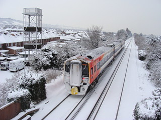 South West Trains Class 159 in the snow at Portchester | by andyc20050