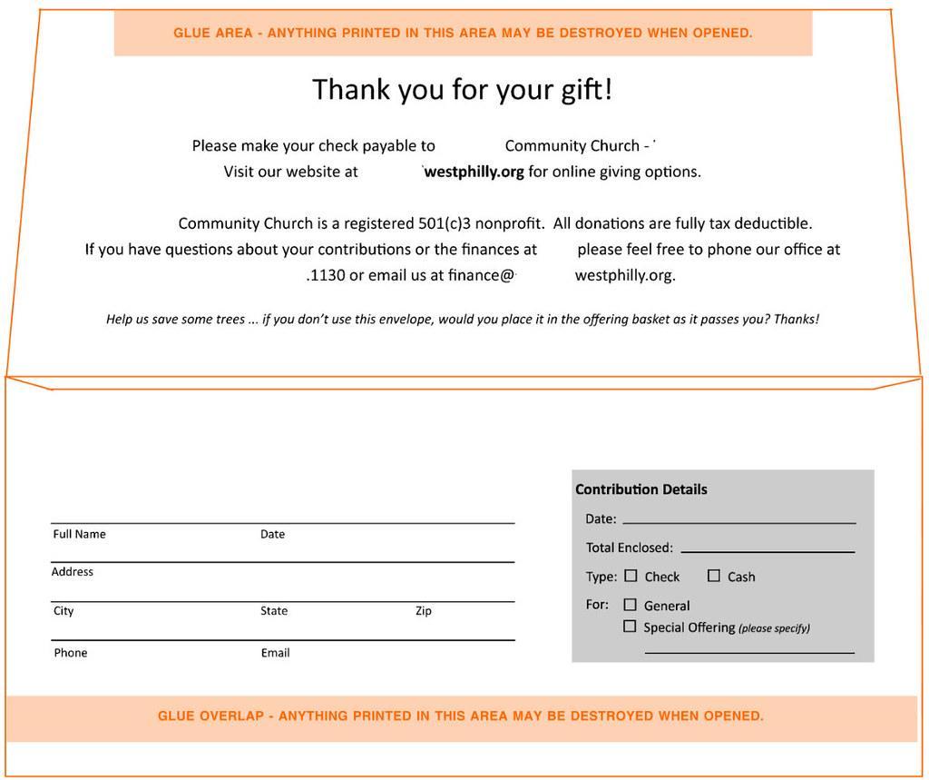 donation envelope