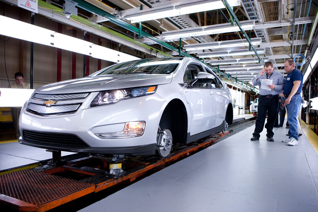 Image result for chevy volt, assembly line, pictures
