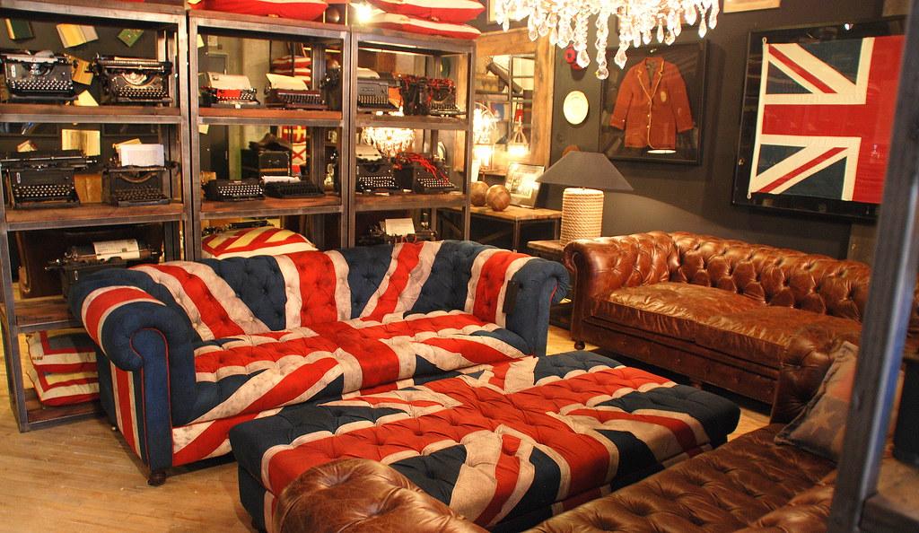 Preferred Union Jack Sofa & Ottoman, Timothy Oulton | Joe Wolf | Flickr GH24