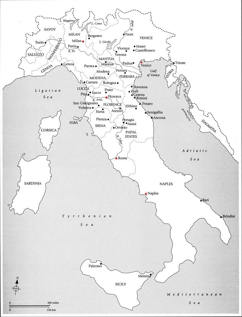 Political Map of Renaissance Italy   arthistory390   Flickr