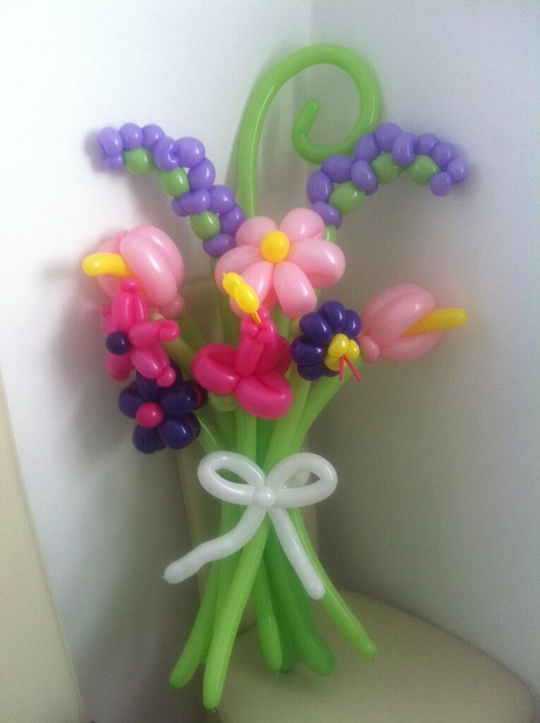 Balloon Flower Bouquet | . | Miss Ballooniverse | Flickr