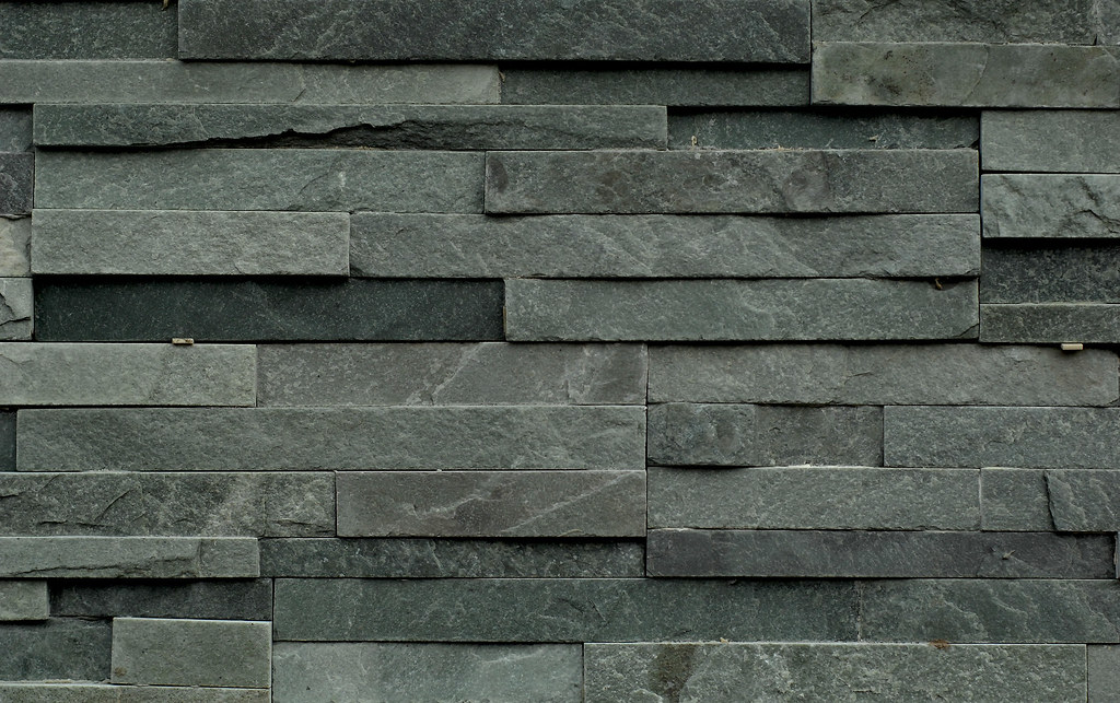 stone tile | stone tile on the exterior of a restaurant unde… | Flickr