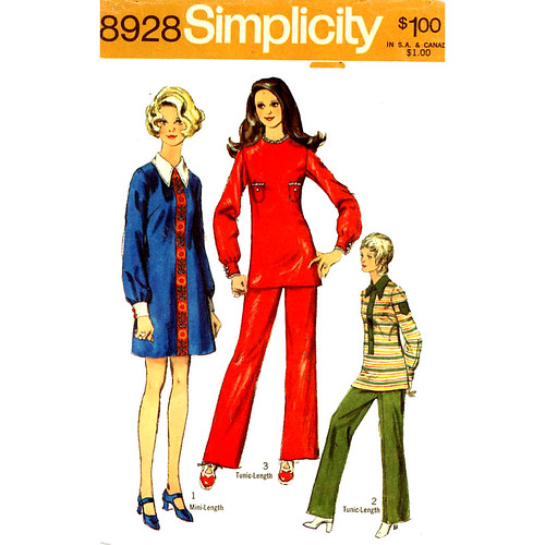 Simplicity 8928 60s top, pants | by retro-thrift