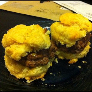 Team Fatty presents: Cheesy Biscuit Sliders | by bovinity