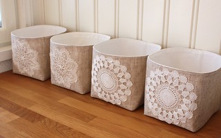 linen and lace- fabric bins | by tuuni