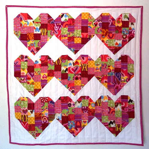 Valentines Day Patchwork Heart Quilt Pattern Is Called
