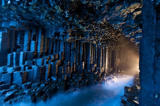 Inside Fingal's Cave in the Hebrides Islands of Scotland | by JC Richardson