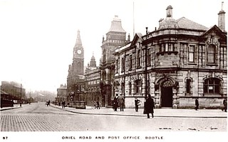 Bootle Nr Liverpool c 1920s Postcard - Oriel Road and Post Office | by ronramstew