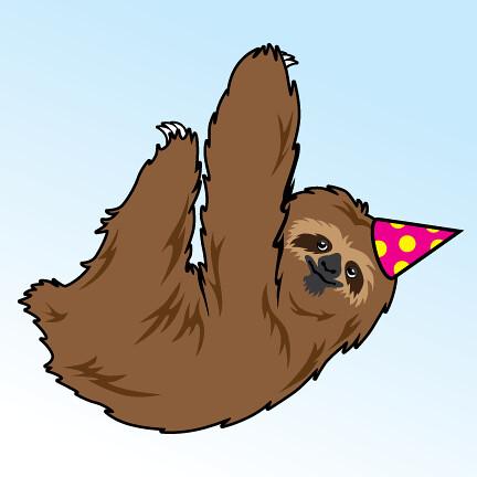 birthday sloth  ryan m.  flickr, Birthday card