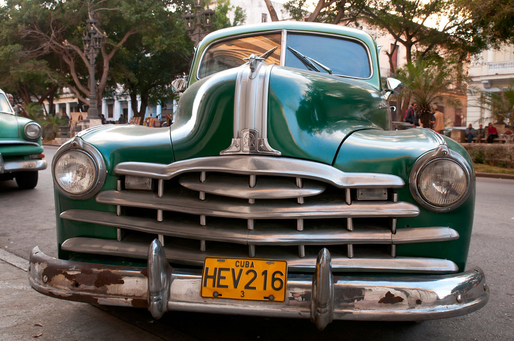 Classic car, Havana | A late 1940s vintage classic car is pa… | Flickr